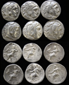 One Lot of Six Alexander AR Drachms